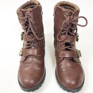 🌿 Soda Brown Combat Boots